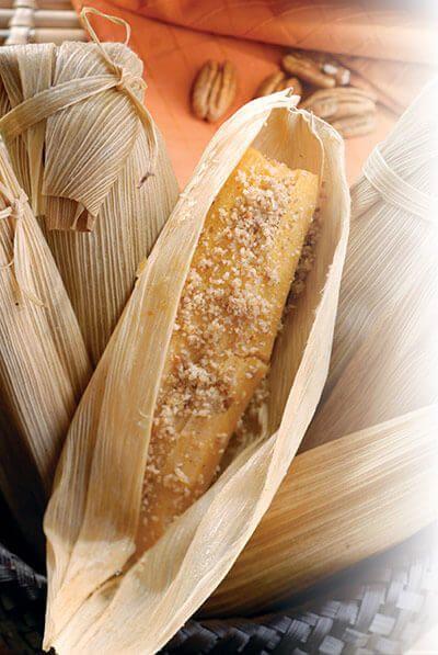 Los tamales también son deliciosos en su versión dulce. No dejes de probar esta variedad sabor nuez.