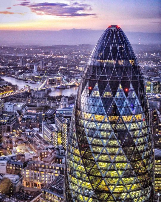 30 St Mary Axe often called 'The Gherkin' is an iconic feature in the London Skyline and one of the City's most widely recognised pieces of contemporary architecture.   To see this and more on your trip to London. Search 'London' on Isango.com for amazing tours and experiences.