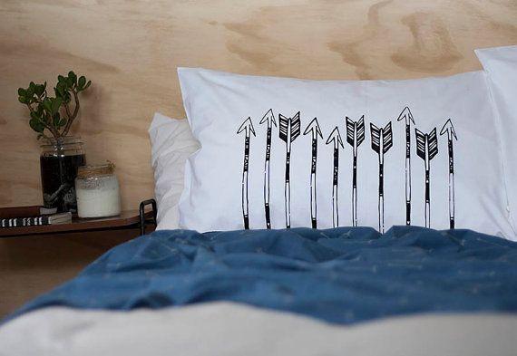 Shooting Arrows Single Pillows Boho Bedding by elephantandbird