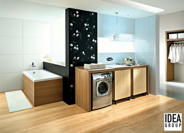 Spazio Evoluzione consists of new elements to give to the most anonymous room in the house (up until now) a touch of elegance. #Ideagroup #Laundry #Design