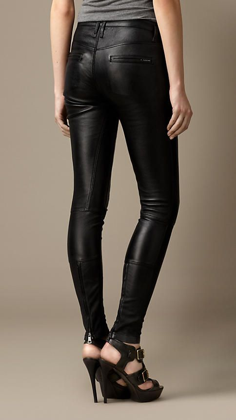 Leather Skinny Fit Trousers | Burberry