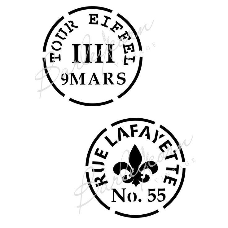 Vintage French wine stamps #barleycornvintagestencil #frenchstencils #mylar #paintedfurniture #madeinaustralia