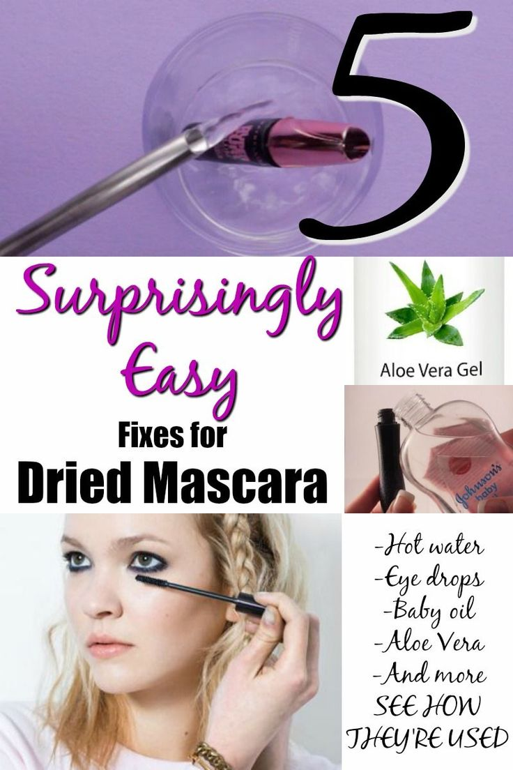 Fix Dried Mascara. I love these ideas for fixing tied mascara. It really is surprising--and amazing--how easy they are,too.