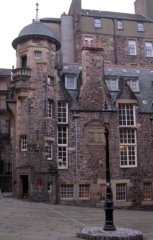 The Writer's Museum on the Royal mile in Edinburgh, Scotland. It is housed in Lady Stair's House at the Lawnmarket, and presents the lives of three of the foremost Scottish writers: Robert Burns, Walter Scott and Robert Louis Stevenson.