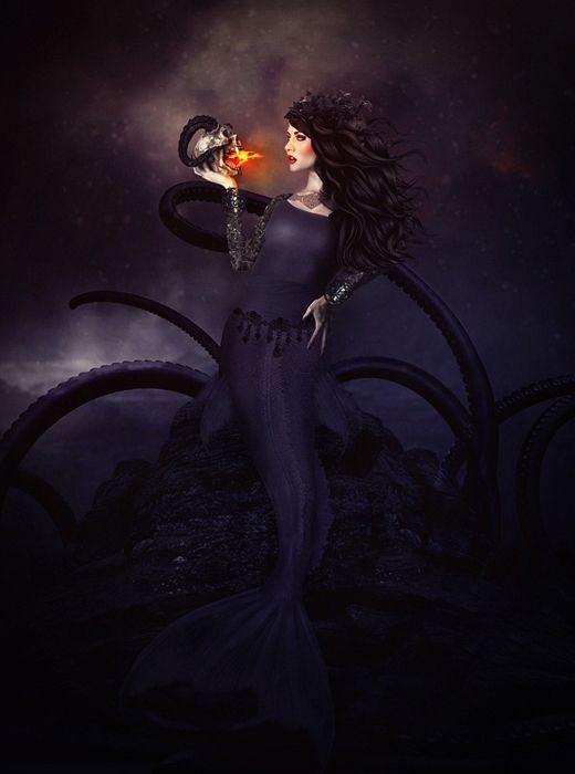 Dark Mermaid Art 74 best Ekaterina Frol...