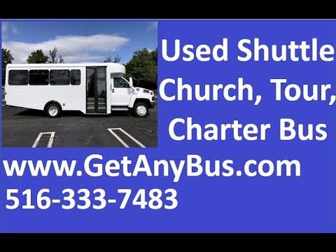 Used Shuttle Buses For Sale | 2006 GMC C5500 Glaval 22 passenger shuttle bus For Sale