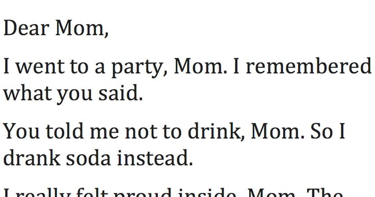 Went To A Party Mom Poem 95