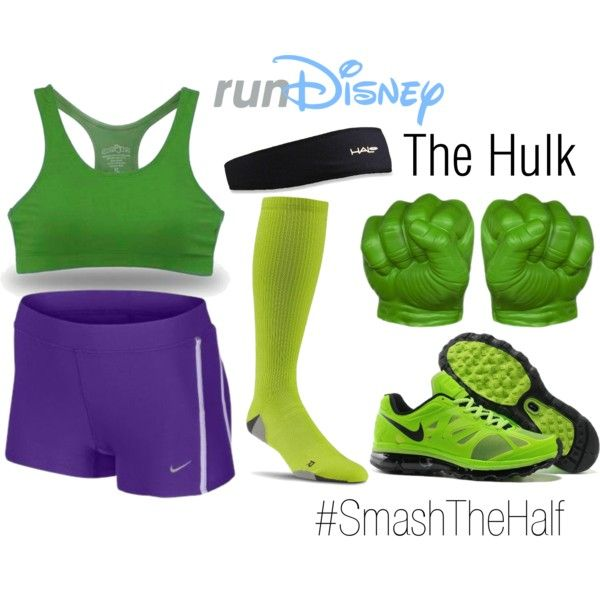 """Disney The Hulk Avengers Running Outfit"" by mamaspartydress on Polyvore"