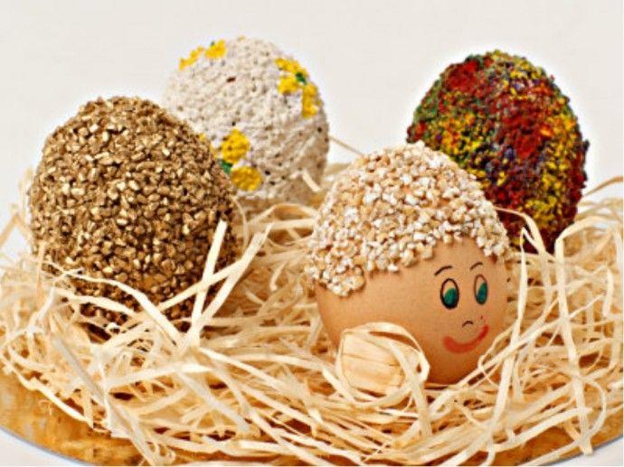 Пасхальные экояйца декор крупой и семенами | Colors.life