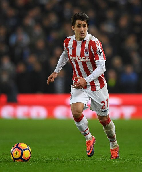 Bojan Krkic during the Premier League match between Stoke City and Leicester City at Bet365 Stadium on December 17, 2016