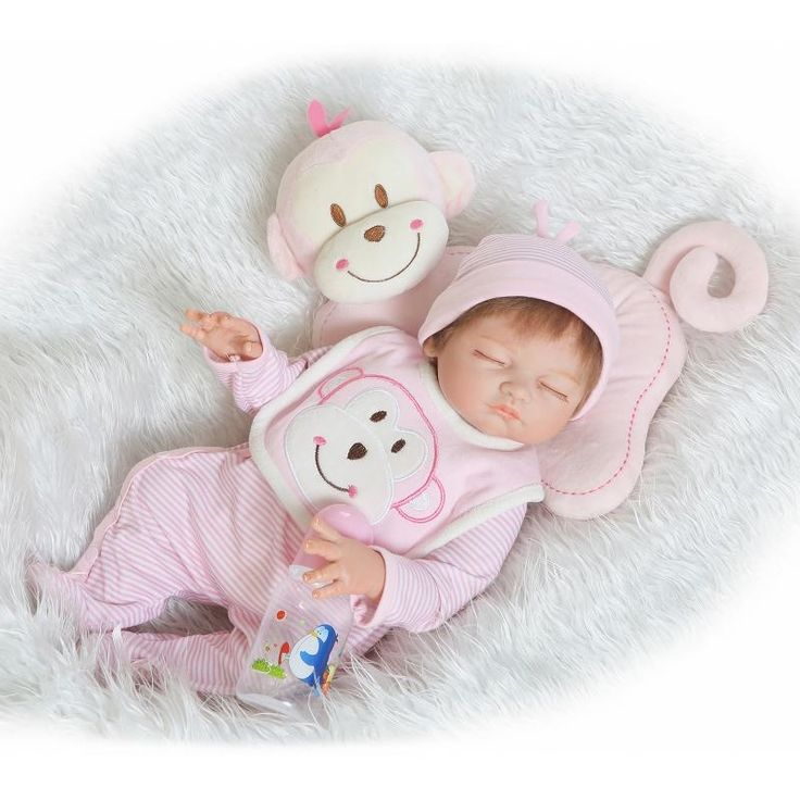 89.25$  Watch now - http://aligdt.worldwells.pw/go.php?t=32435906336 - 20 Inch Collectible Reborn Babies Boy Fashion Finished Doll Full Silicone Vinyl Sleeping Newborn Baby Kids Birthday Xmas Gift 89.25$