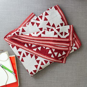 Triangle Lattice Throw #WestElm Christmas-y!