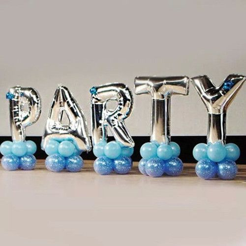 40 inches Silver Letter Foil Balloons Birthday Party Banner Helium Letter Balloon Wedding Decoration Ballons Holiday Supplies