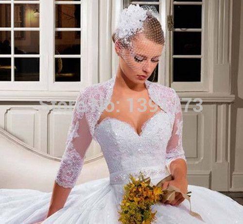 gros de mariée sexy trois quart décoration nuptiale Robe en dentelle ...