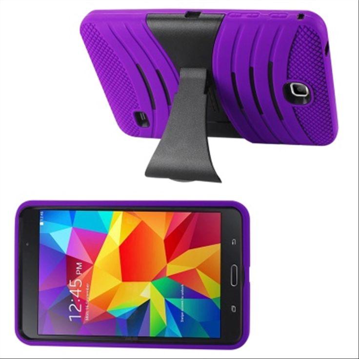 SAMSUNG GALAXY TAB 4 7.0″ CASE, HYBRID PROTECTIVE COVER W/ STAND (PURPLE)   #tabletgadgets #tabletaccessories   www.kuteckusa.com.