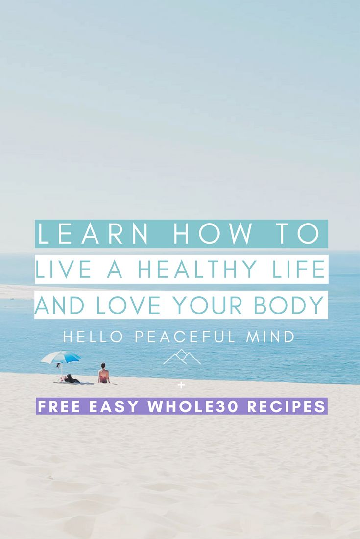 Discover how you can start living a healthy life today. How to easily eat healthily and exercise to become more confident and love yourself!