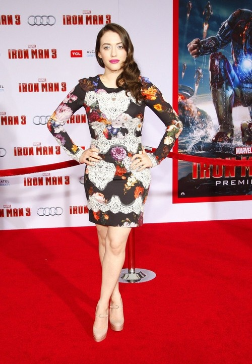 Kat Dennings at 'Iron Man 3' Premiere in Hollywood on April 24, 2013