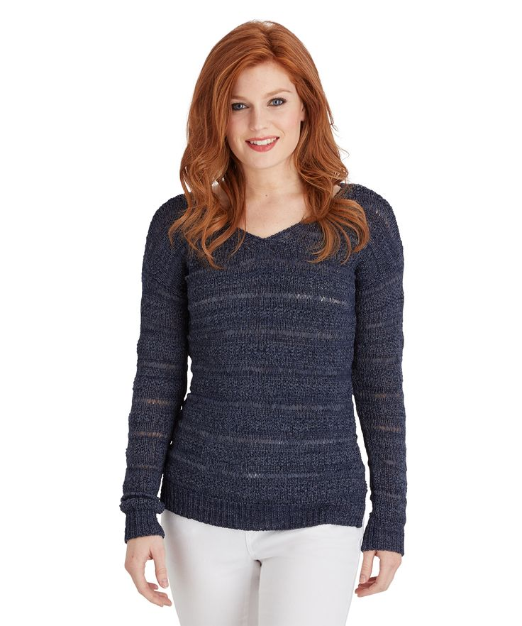 It was true love the moment we saw this beautiful knit. Cool and casual in lovely ribbon yarn, it's perfect layered over one of our camis.