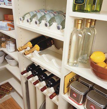pantry built ins for wine/bottles/baking sheets etc.