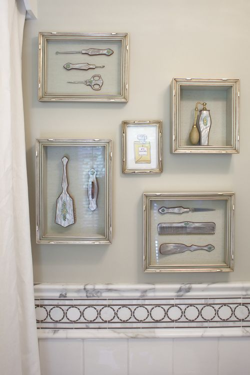 charming way to display delicate vanity sets via harman wilde interior design via chudleigh journal