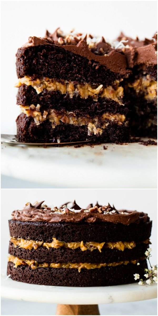 german chocolate cake from scratch is super moist chocolate cake rh pinterest com