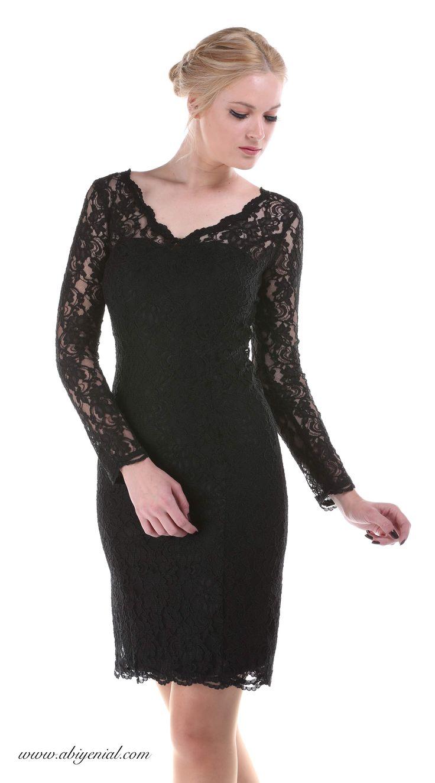 Uzun Kollu Gece Elbisesi Siyah 643