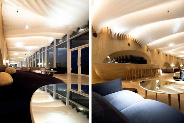 Hotel design, Hotel Bar Design With Amazing Design: Pattaya Thailand hotel interior design inspired by ocean waves