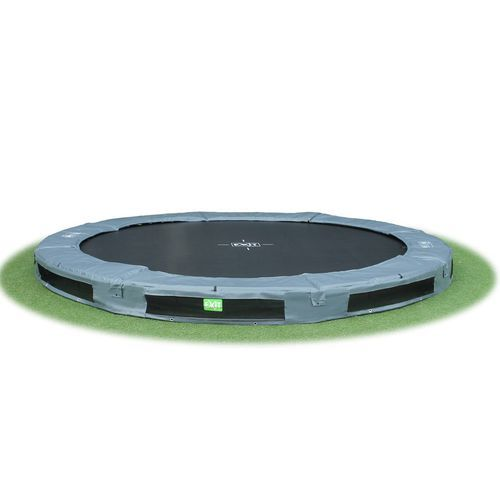 Exit Interra 3,7m leveä maatrampoliini! Hanki kerralla laadukas trampoliini lapsille!
