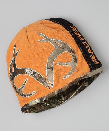 Hayden would love this Green & Orange Camo Reversible Beanie by Realtree on #zulily today!