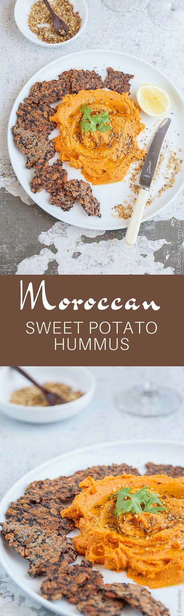 Moroccan Sweet Potato Hummus