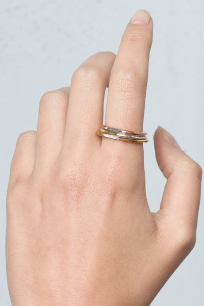 Maya Magal Polygon Gold Ring