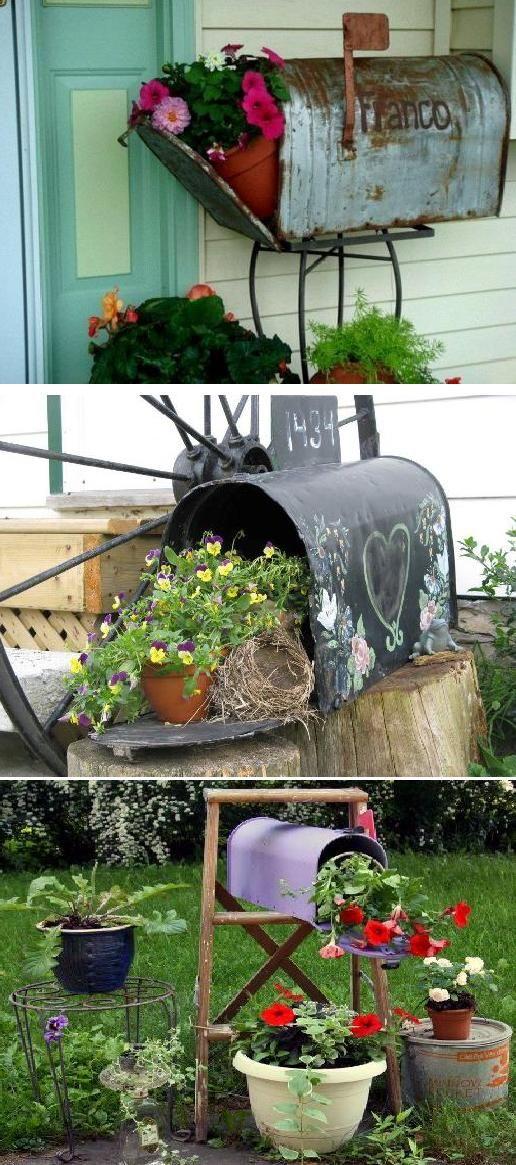 Marvelous mailboxes in the gardening  Make Money On Pinterest Free E-Book  pinterestperfecti...