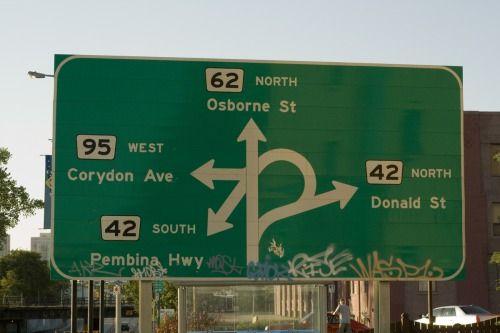 """Confusion corner"" Winnipeg, Manitoba"