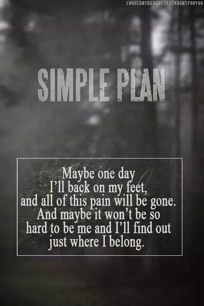 The lucky one. Simple plan.