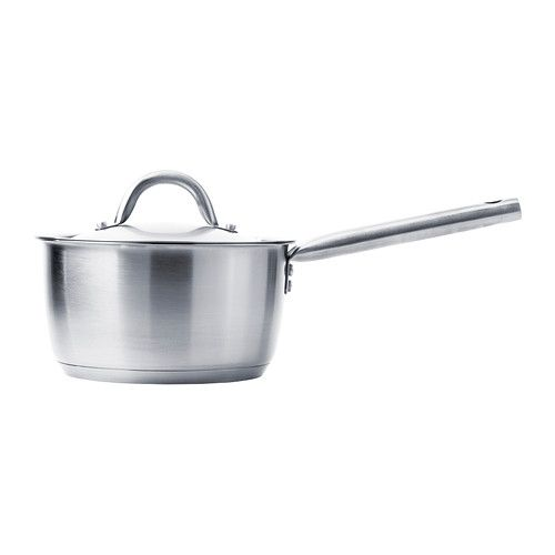 IKEA - IKEA 365+, Saucepan with lid, 2 l, , Works well on all types of hobs, including induction hob.Can also be used in the oven since it is made entirely of metal.Thick base with one layer of aluminium between two layers of stainless steel. Gives an even and energy-efficient heat, which reduces the risk of food burning and sticking.The graduated interior makes it easy to measure up liquid directly in the pan.Made of stainless steel, which makes the pan durable and easy to clean.The ...