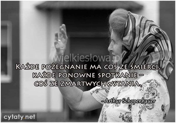 Każde pożegnanie ma coś ze śmierci... #Schopenhauer-Arthur,  #Śmierć