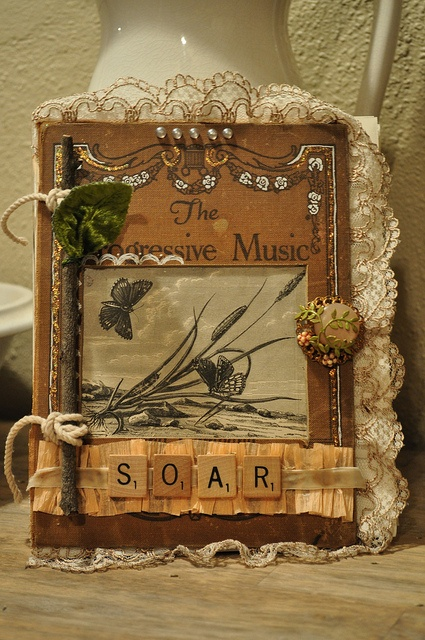 an altered art journal i made for jeanne oliver's 'creatively made' e-course