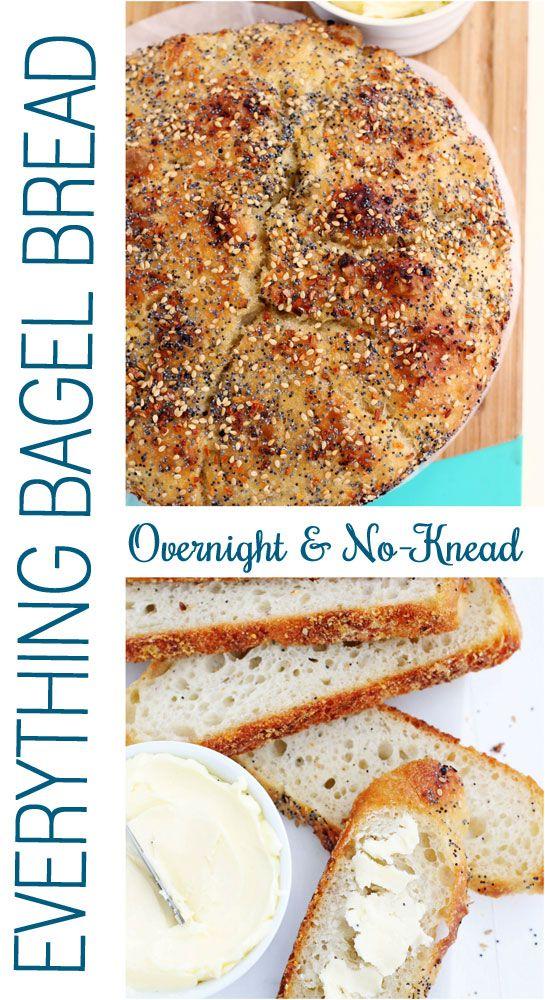 Overnight No-Knead Everything Bagel Bread