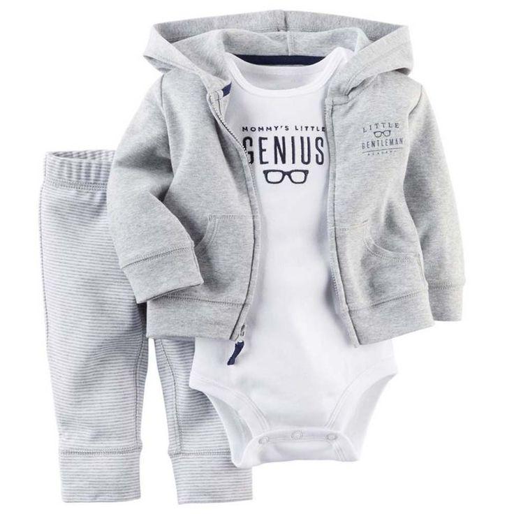 Musim panas musim semi bebe bayi perempuan, anak-anak pakaian bayi laki-laki mantel + bodysuit + celana 3 pcs bayi laki-laki pakaian set, meninos roupas bebes