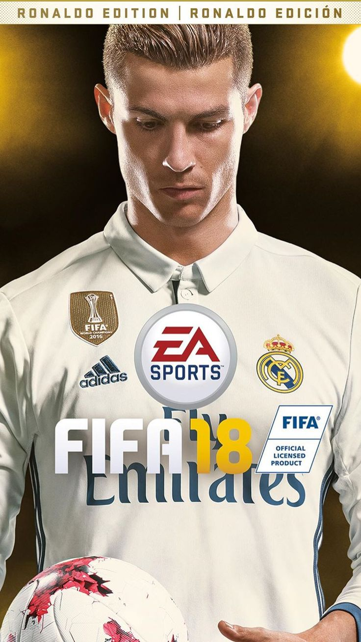 BOIIIII MY BOI RONALDO GOT THE FRONT COVER OF FIFA 18 YAAZZZ