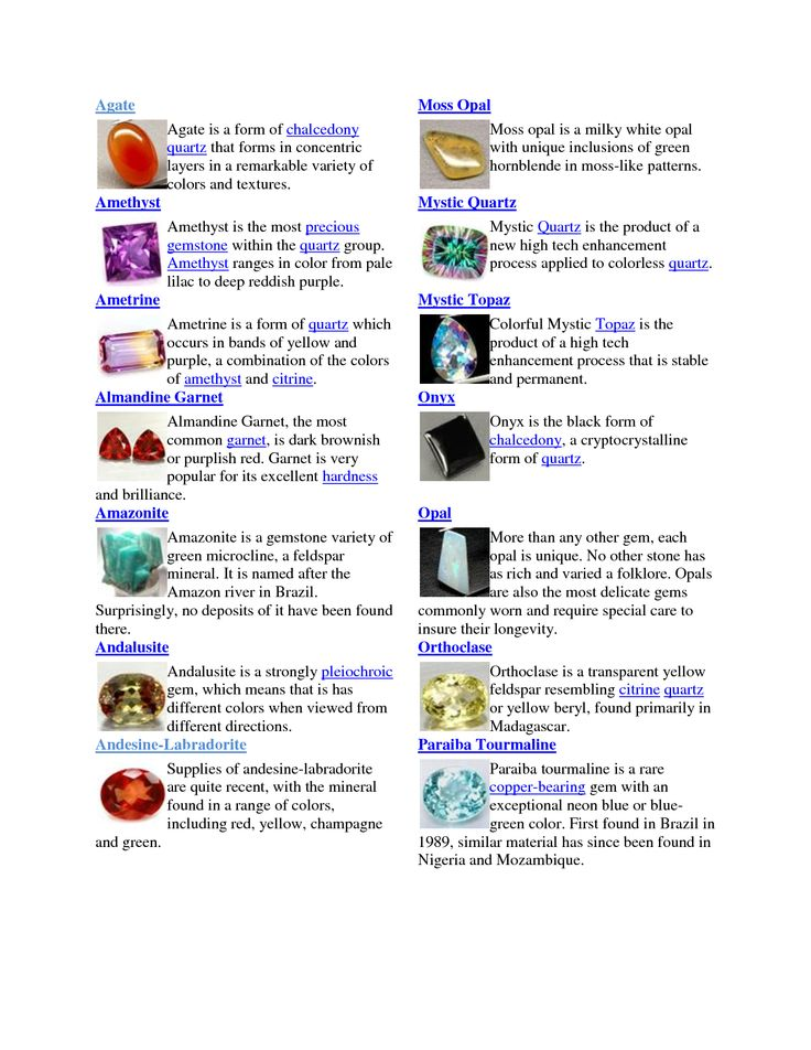 30 best gemstone name chart images on craft