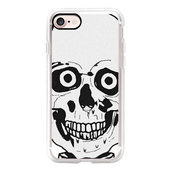 Funny skull - iPhone 7 Case, iPhone 7 Plus Case, iPhone 7 Cover,... (53 CAD) ❤ liked on Polyvore featuring accessories, tech accessories, iphone case, iphone cover case, apple iphone cases, slim iphone case and iphone cases