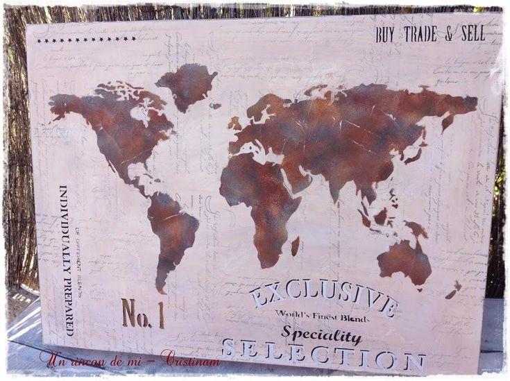 Cuadro mapamundi, el regalo ideal para los más viajeros