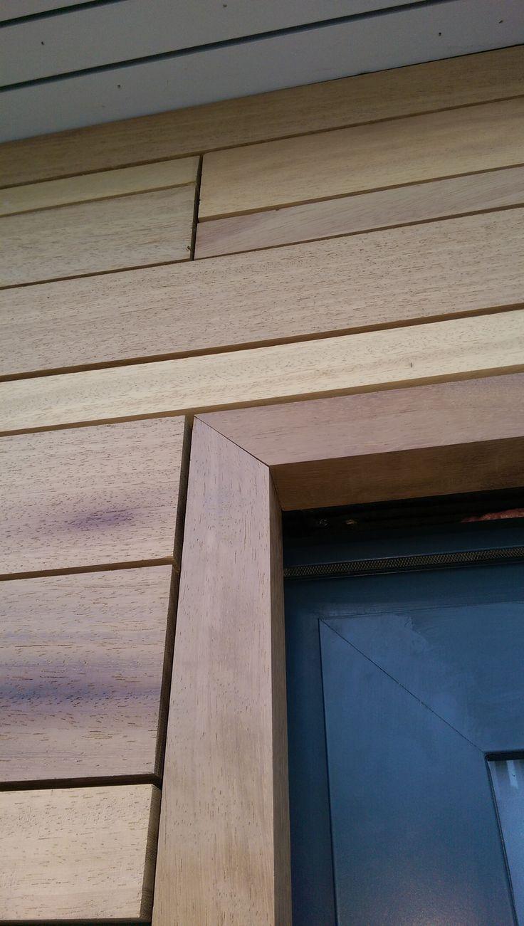 Iroko cladding frame detail   Riverside House   Henley   Adlon Construction