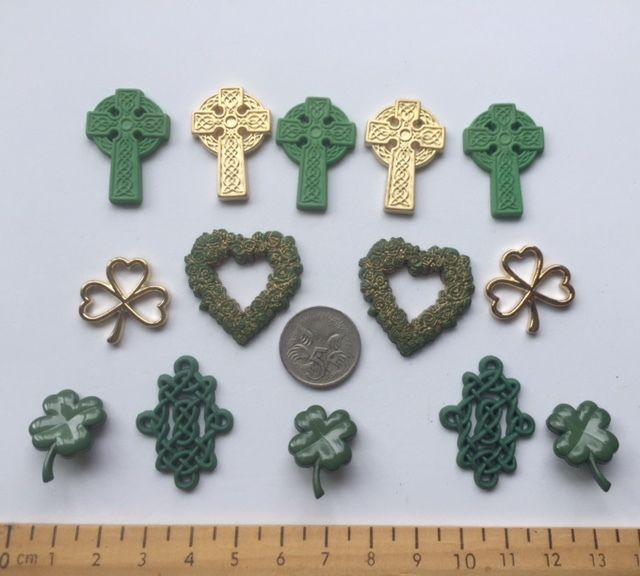 Buy Assorted Celtic Irish Buttons Embellishments by Dress It up 2683   #StPatricksDay #Buttons #crafts #homemade #DIY #artsandcrafts