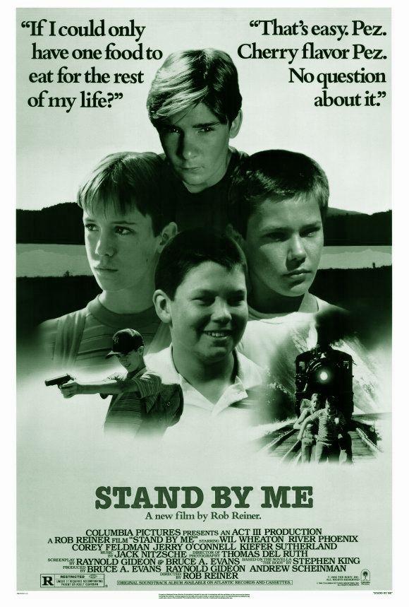 STAND BY ME is een Amerikaanse drama-jeugdfilm uit 1986, geregisseerd door Rob Reiner. Het is een verfilming van het boek The Body van Stephen King (in het Nederlands verschenen in de bundeling '4 Seizoenen'); een van een weinige niet-horrorverhalen van de schrijver. Hoofdrollen in de film worden vertolkt door Wil Wheaton, River Phoenix, Corey Feldman en Jerry O'Connell.