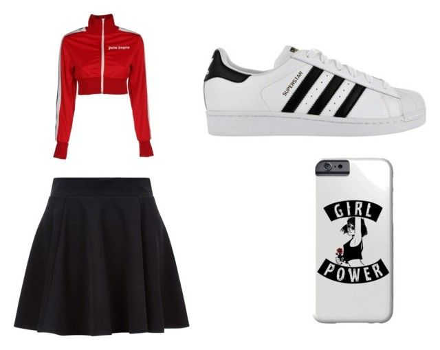 Walking the streets by sweetmoegee on Polyvore featuring polyvore, fashion, style, Palm Angels, adidas and clothing