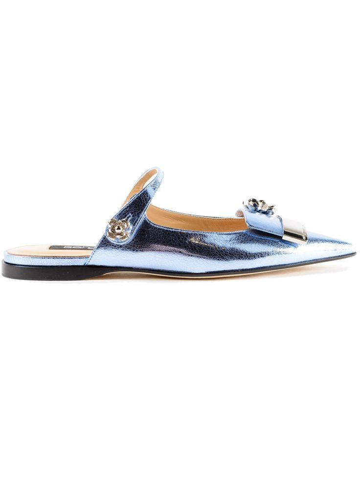 SERGIO ROSSI | Sergio Rossi Sergio Rossi Crack Lame` Sabot #Shoes #SERGIO ROSSI