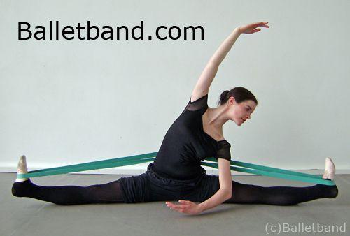ballet ballet ballet! Dancer Hannah Windows demonstrating a straddle split stretch using Balletband. For more info click image or visit http://Balletband.com
