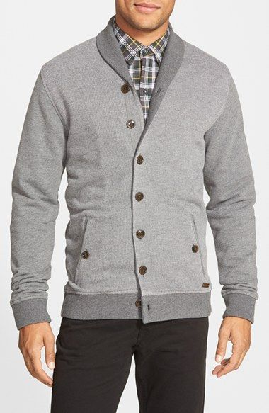Free shipping and returns on Ted Baker London Berdnor Shawl Collar Cardigan Sweatshirt at